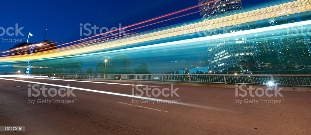 Traffic in the city royalty-free stock photo