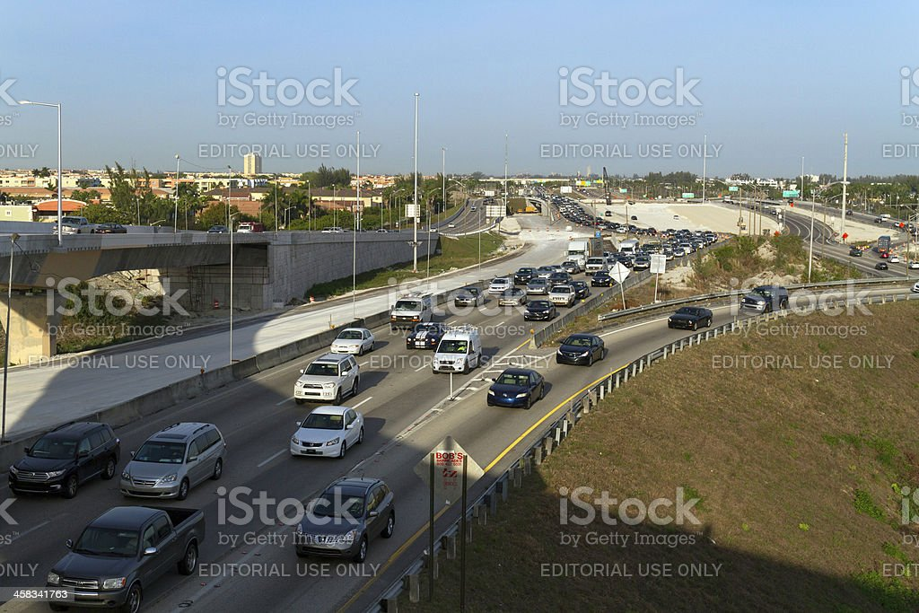 Traffic in the Expressway royalty-free stock photo