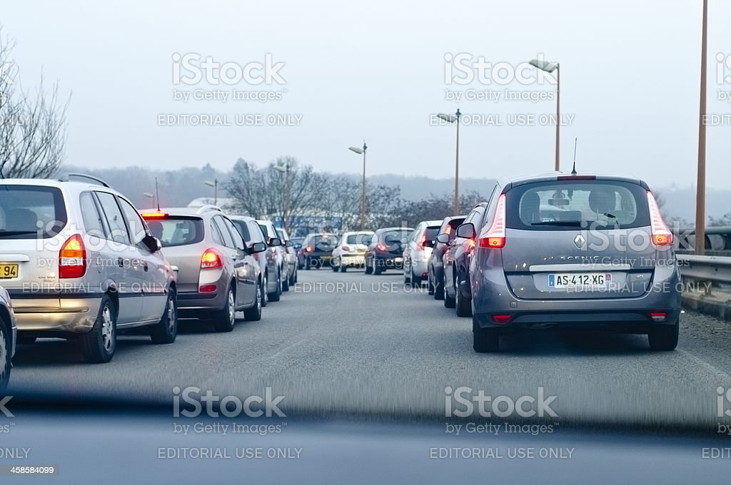 Traffic in the outskirt of Paris. royalty-free stock photo