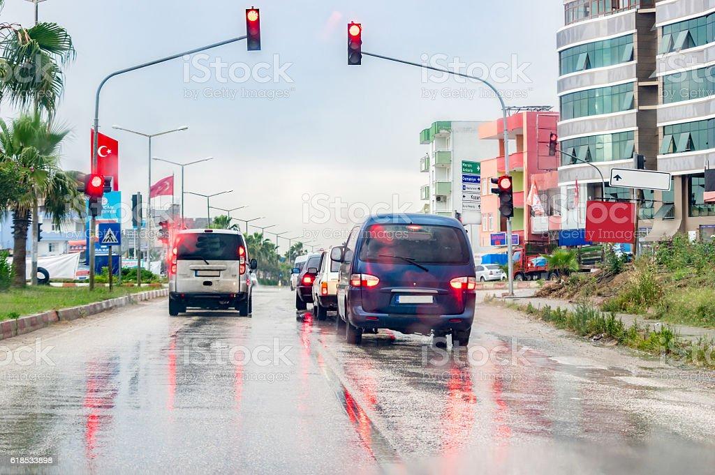 Regen Verkehr in – Foto