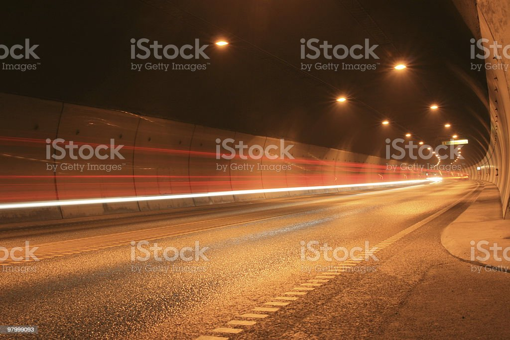 Traffic in the tunnel royalty free stockfoto