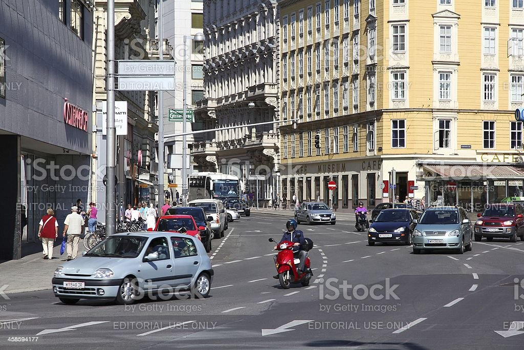 Traffic in Vienna royalty-free stock photo