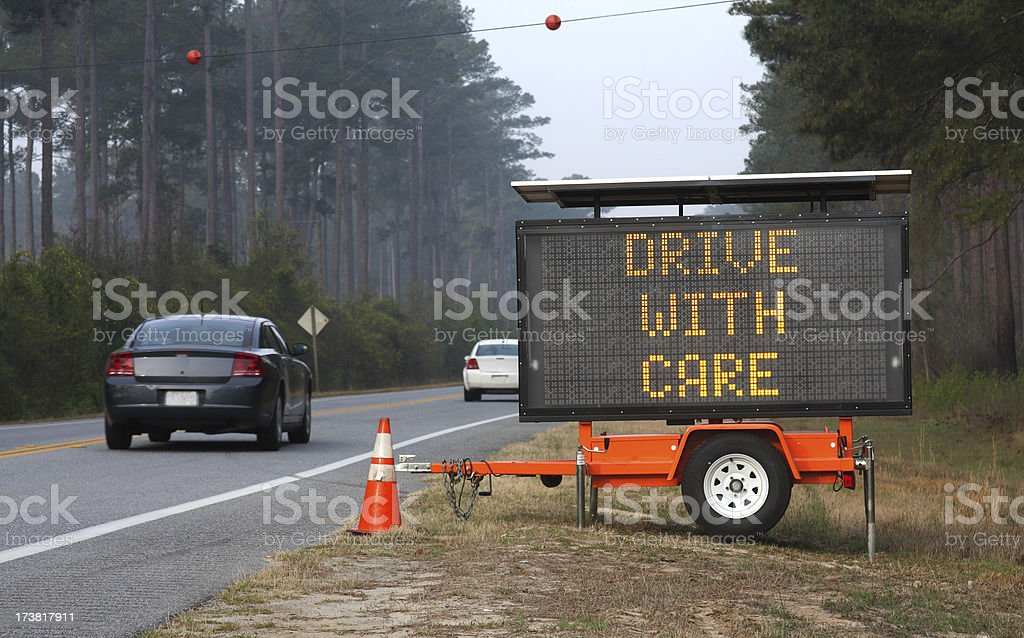 Traffic Information Sign stock photo