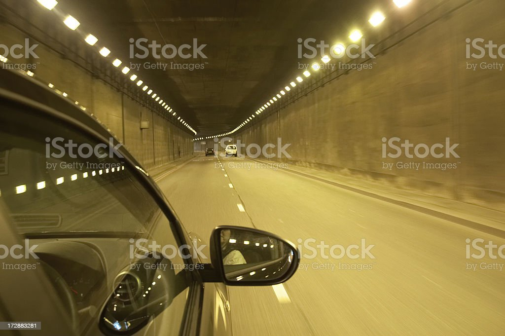 Traffic inside tunnel royalty-free stock photo