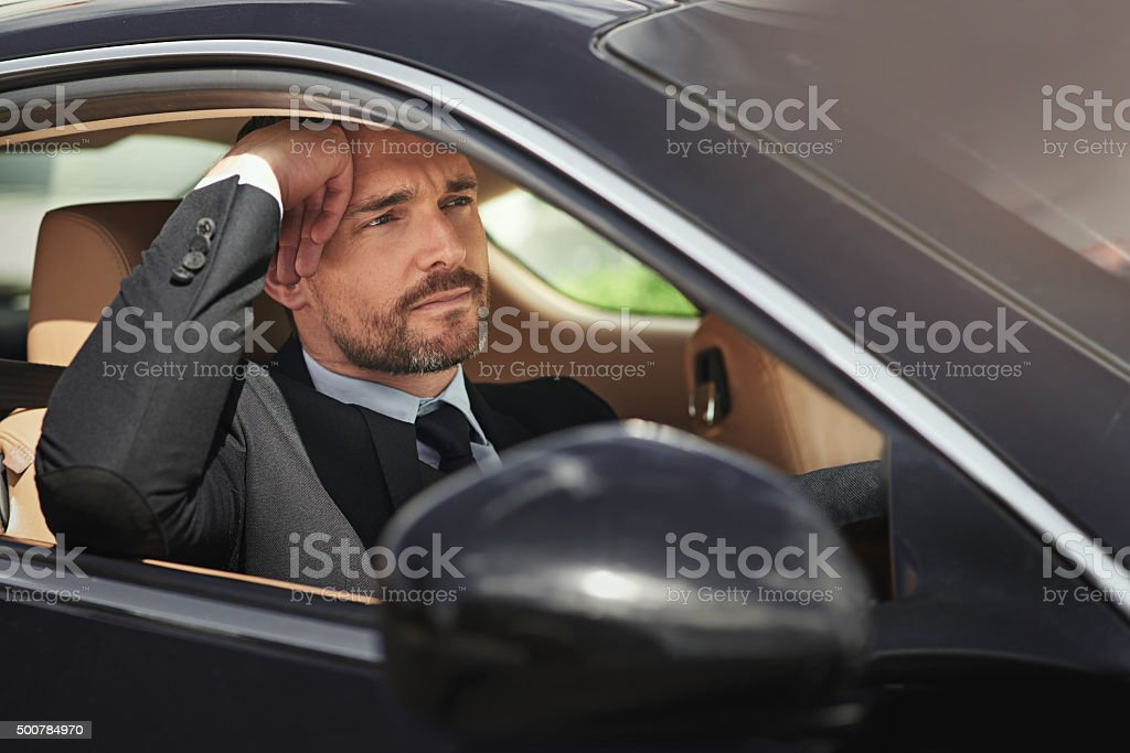 Traffic is slow today stock photo