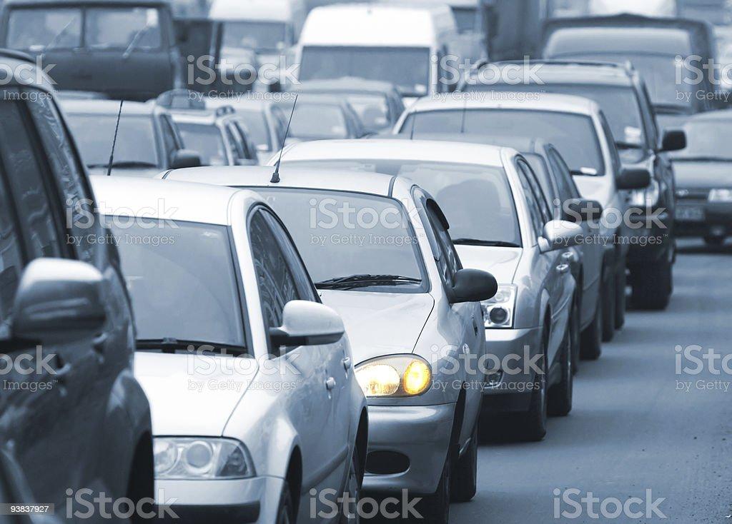 traffic jam 3 stock photo