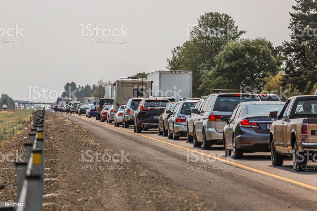 Stau in einer Autobahn – Foto