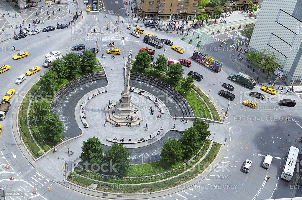 Traffic Jam in Columbus Circle,NYC. stock photo