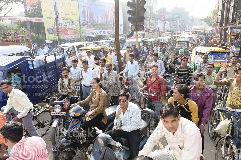 Traffic jam in India royalty-free stock photo