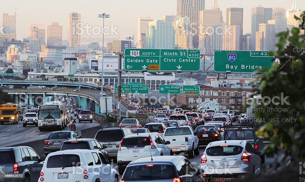 Embotellamiento en San Francisco, California - foto de stock