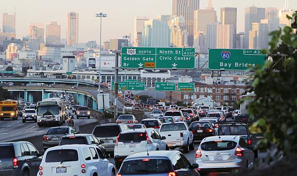 교통 체증 san francisco, california - 교통 체증 뉴스 사진 이미지