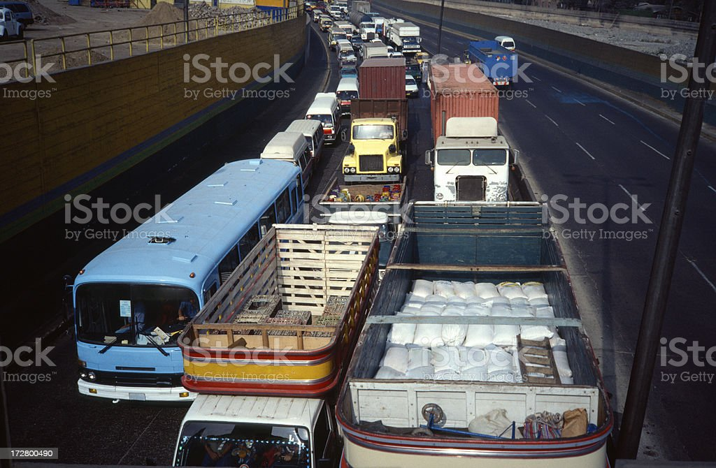 Traffic jam in South america royalty-free stock photo