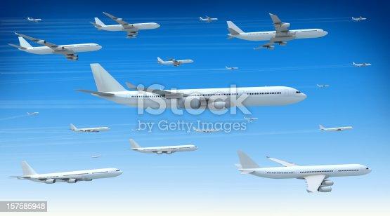 istock Traffic Jam in the Skies 157585948