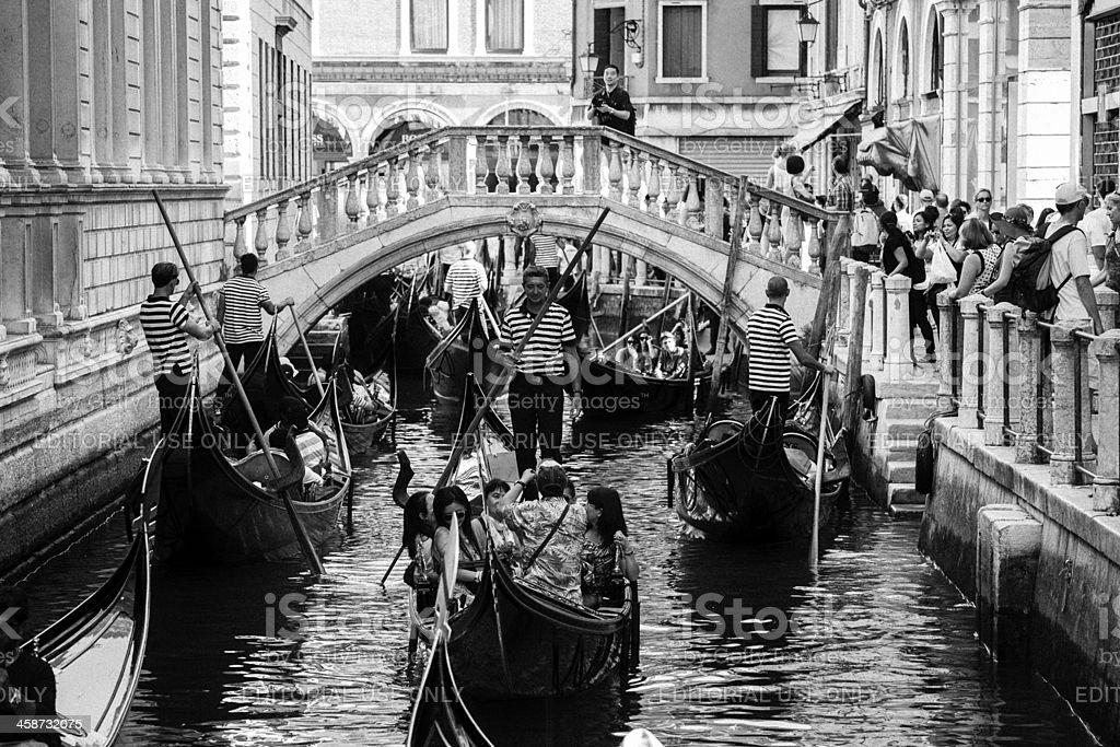 Traffic jam in Venice royalty-free stock photo