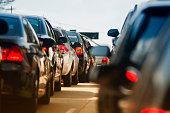 istock traffic jam on narrow street 1039070178