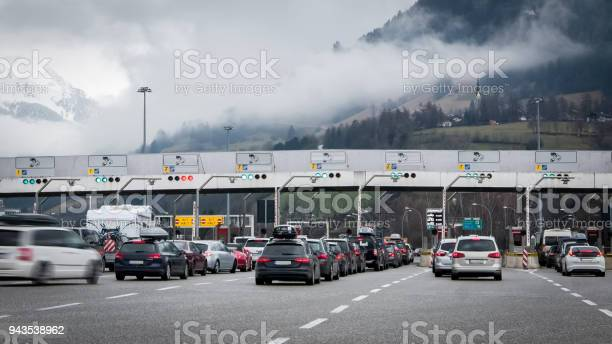 Photo of Traffic jam on toll gates, people traveling for holidays