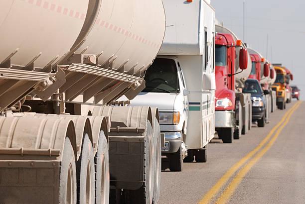Traffic Jam. stock photo