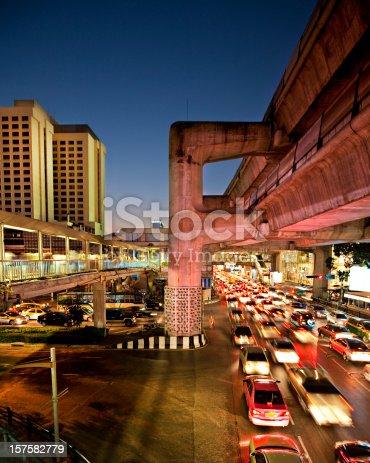 Traffic jam in Bangkok  - Thailand