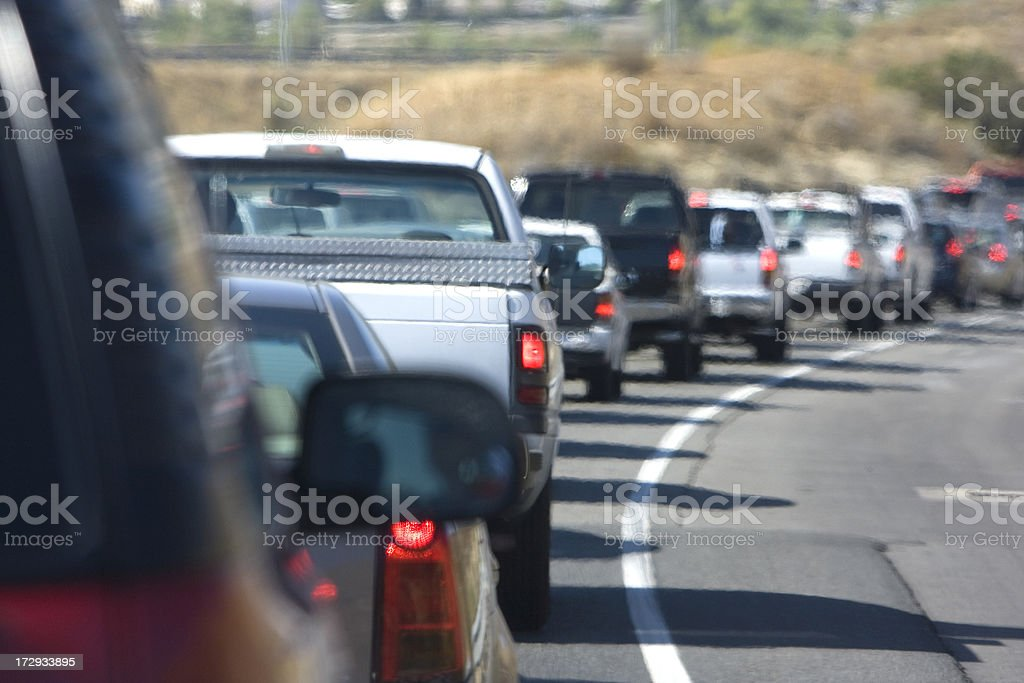 traffic jam (#39 of series) royalty-free stock photo