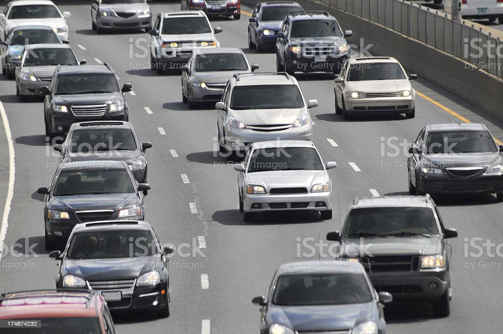 Traffic Jam royalty-free stock photo