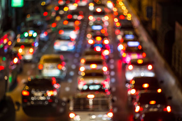 Traffic Jam blurred traffic jam traffic jam stock pictures, royalty-free photos & images