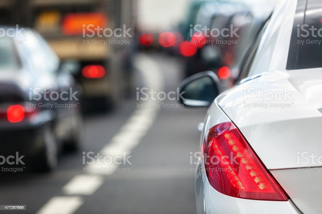 Traffic jam bildbanksfoto