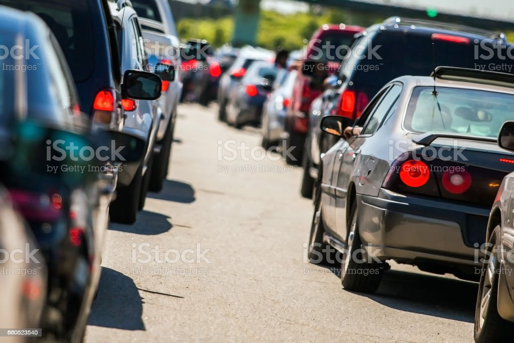 Traffic jam stock photo