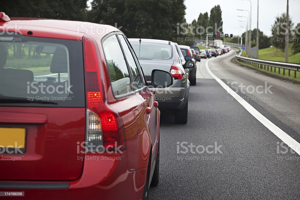 Traffic jam # 8 XXXL stock photo