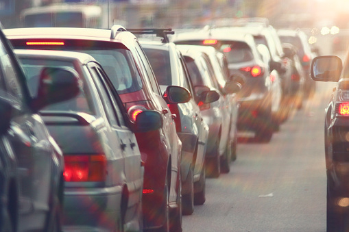 Traffic Jams In The City Road Rush Hour Stock Photo - Download Image Now