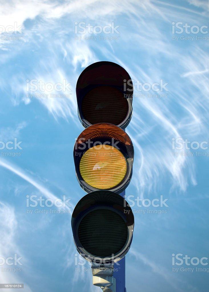 traffic lamp yellow stock photo
