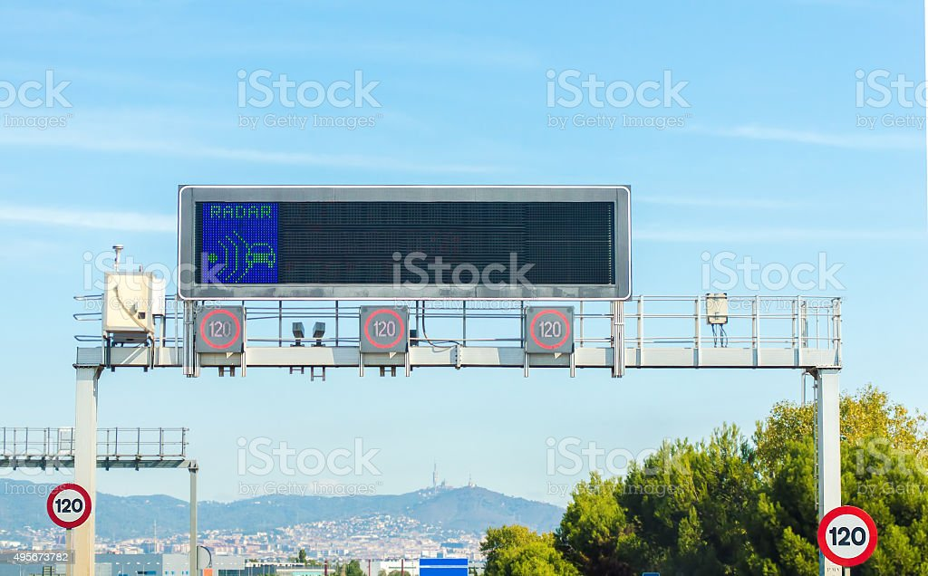Señal de tráfico de led foto de stock libre de derechos