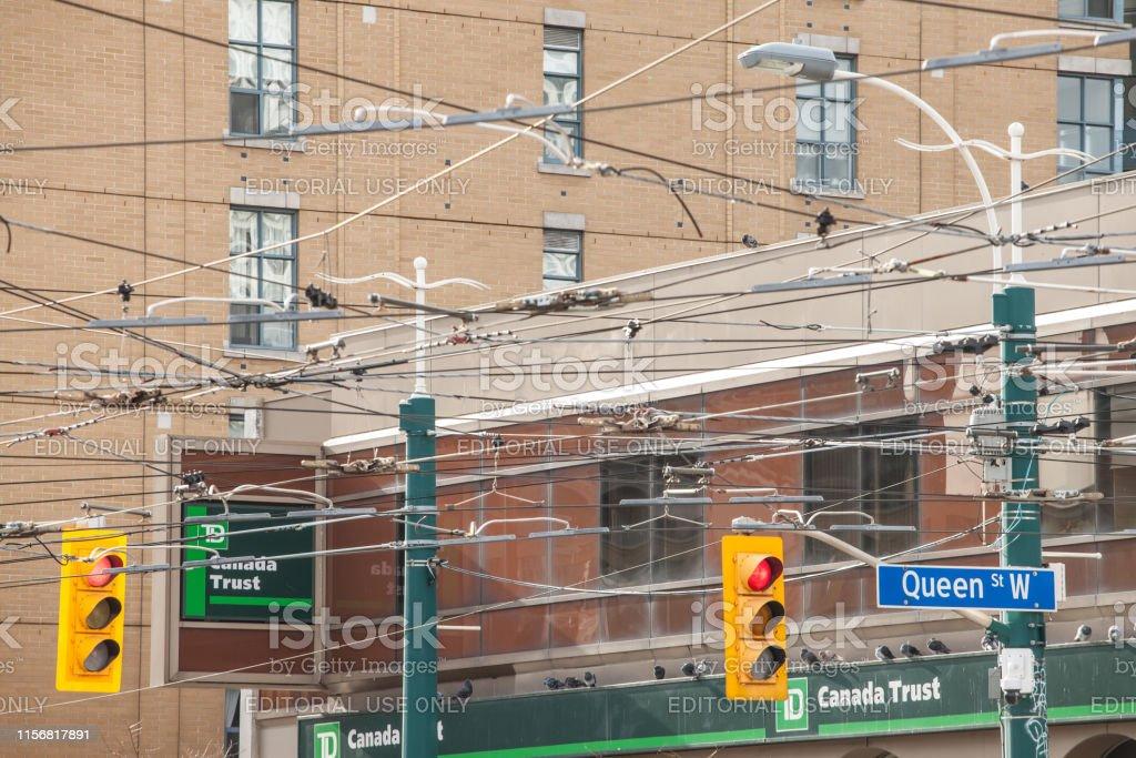 Picture of an American standard traffic light taken in Toronto,...