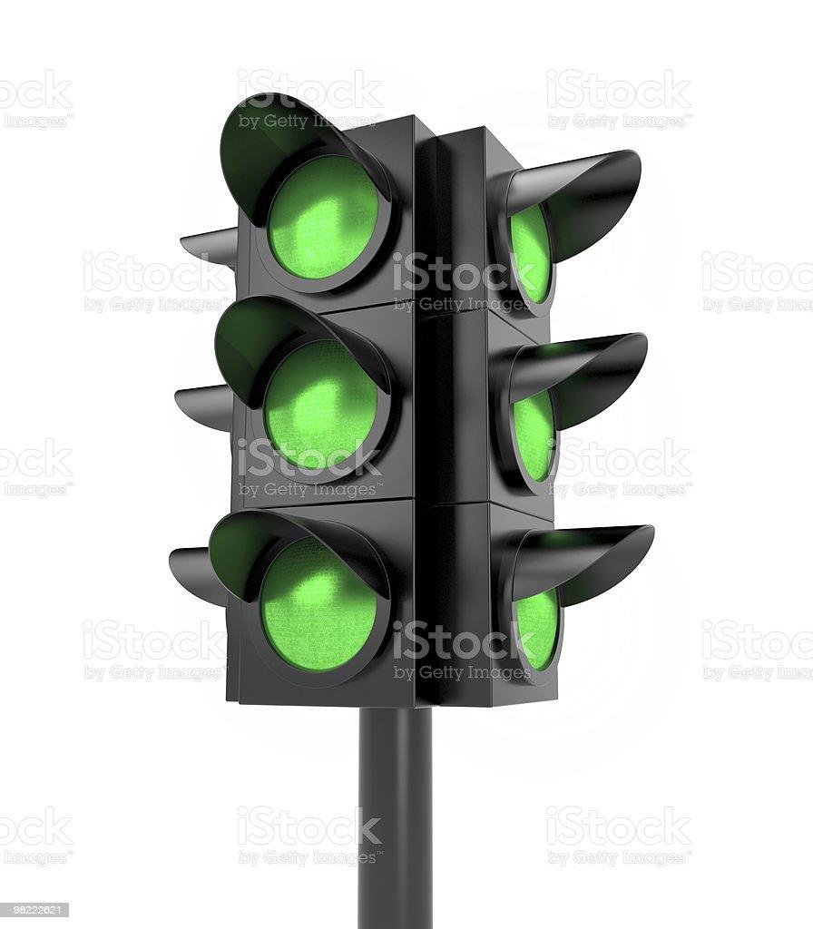 Traffic light. All Green royalty-free stock photo