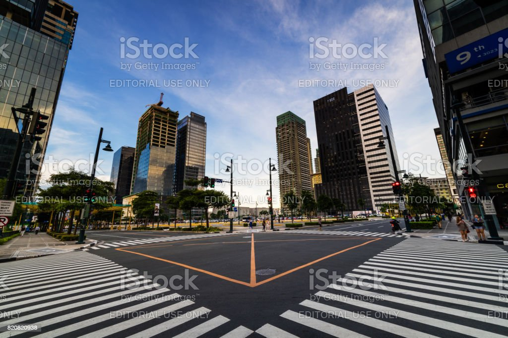 Traffic light and cross section street stock photo