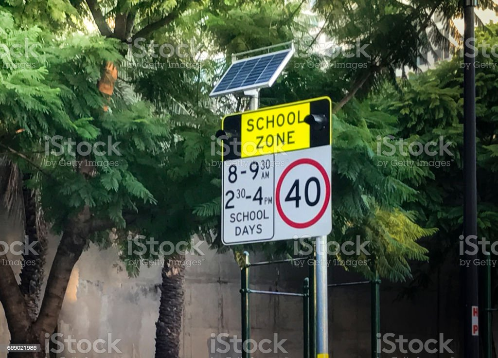 Traffic Light And Sign With Solar Cell Power stock photo
