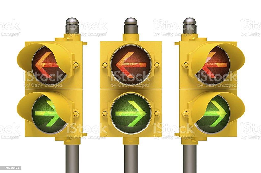 Traffic Light Arrow royalty-free stock photo