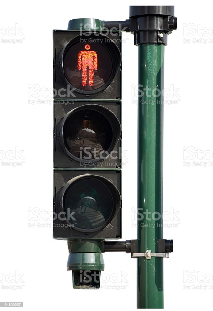 traffic light - don't walk! stock photo