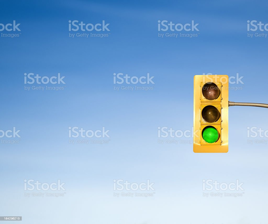Traffic light green go signal concept stock photo