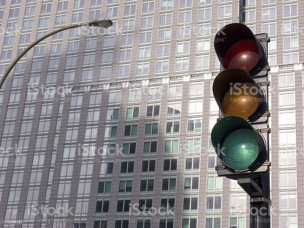 Traffic Light - Green stock photo