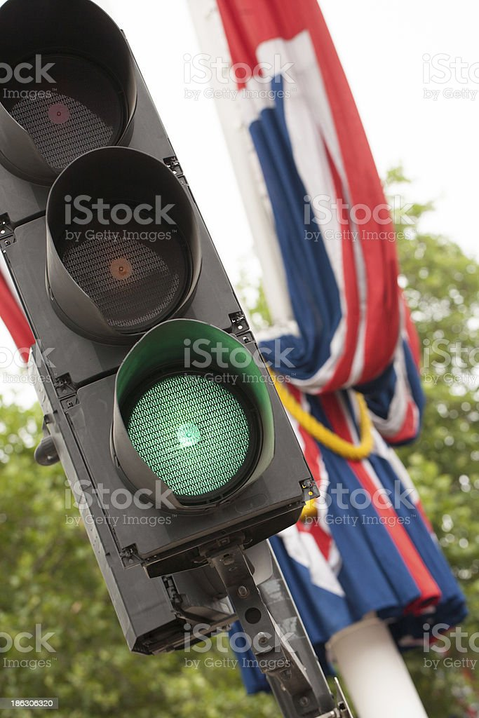 Traffic Light in central London royalty-free stock photo