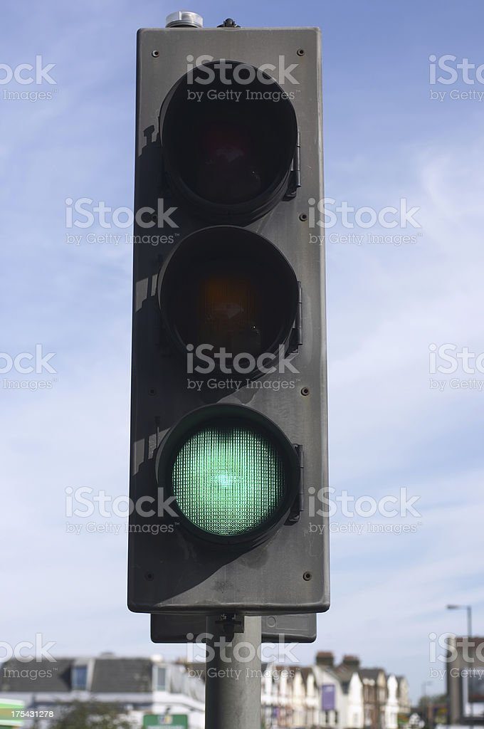 Go traffic light on green royalty-free stock photo
