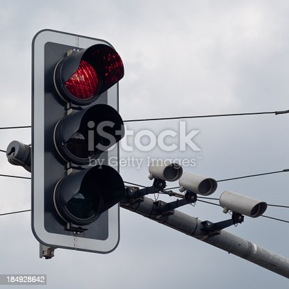 Traffic Light with camera to control traffic