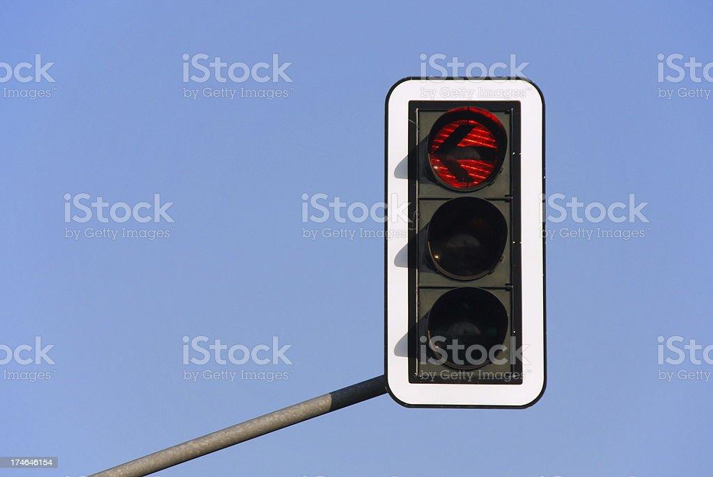 Traffic light - red arrow stock photo