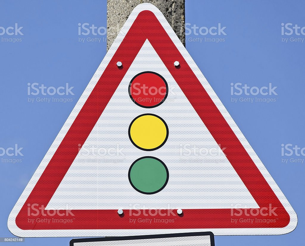 Traffic light road sign royalty-free stock photo