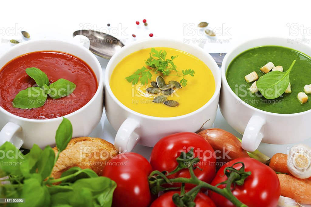 traffic light soups royalty-free stock photo