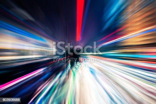 603907998 istock photo Traffic Light trails on street in Shanghai 603908688