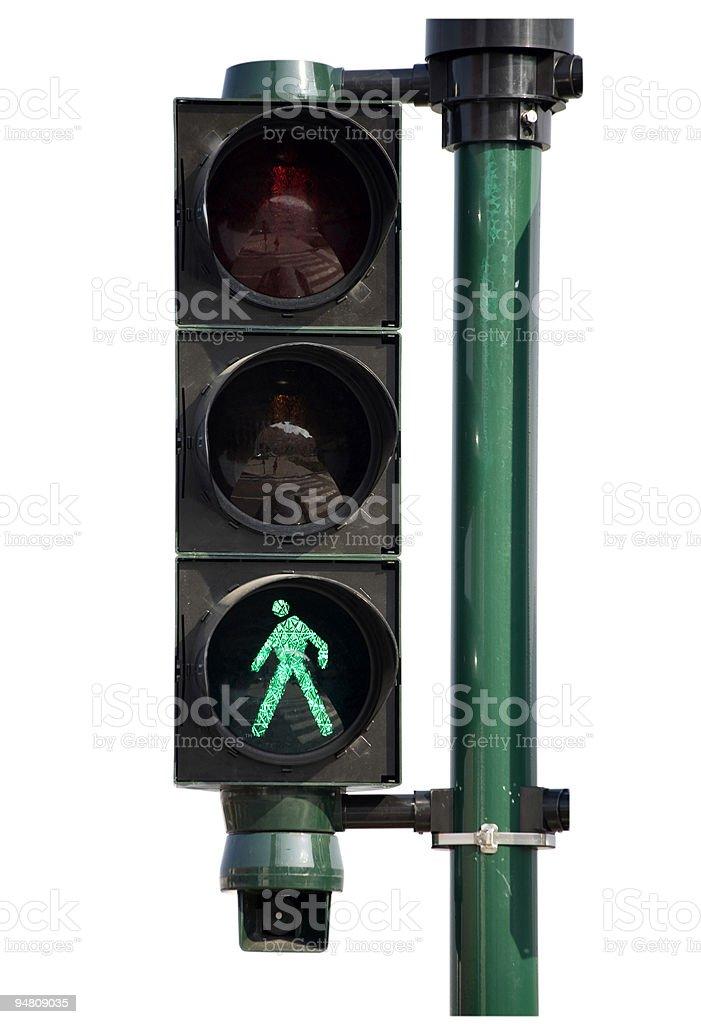 traffic light - walk! stock photo