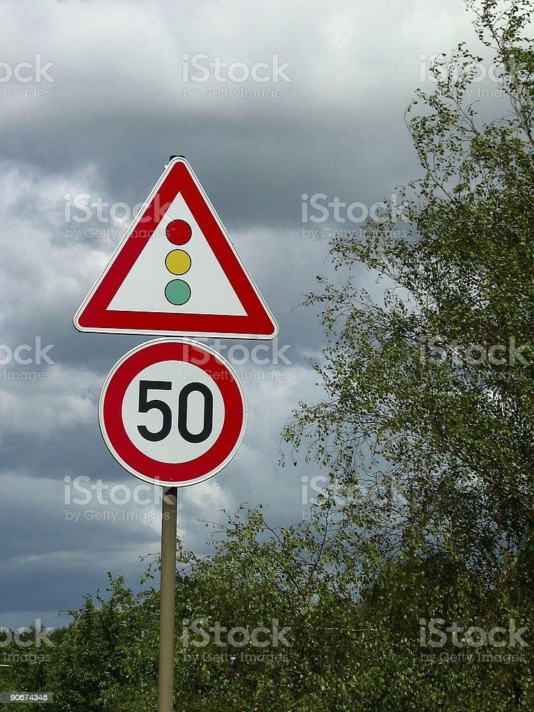 Traffic lights ahead #2 stock photo