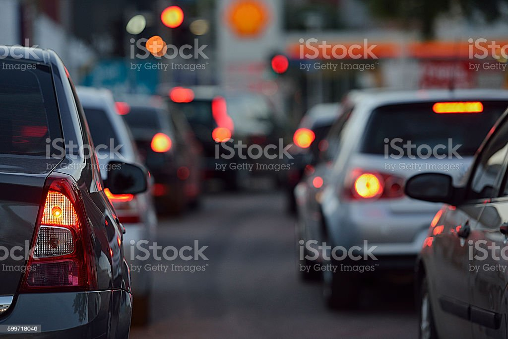 traffic lights - different focus stock photo