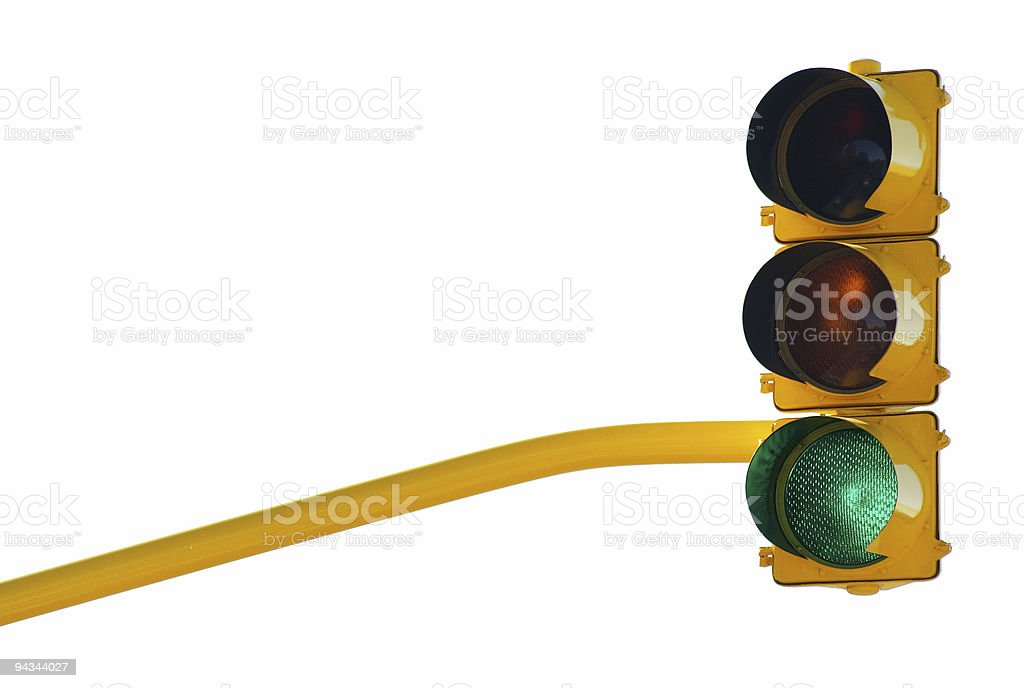Traffic lights green with path royalty-free stock photo